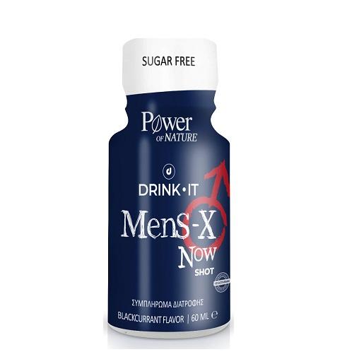 Power Health Drink It Mens-X Now Shot, Συμπλήρωμα Διατροφής για τη Στυτική Δυσλειτουργία με Γεύση Φραγκοστάφυλο 60ml