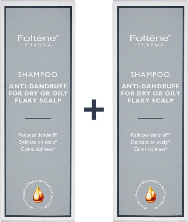 Foltene - Promo Set Shampoo Anti-Dandruff For Dry or Oily Flaky Scalp 1+1 2x200ml