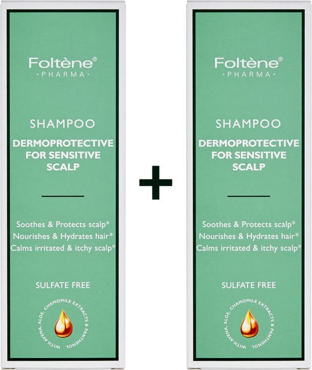Foltene - Promo Set Shampoo Dermoprotective For Sensitive Scalp 1+1 2x200ml