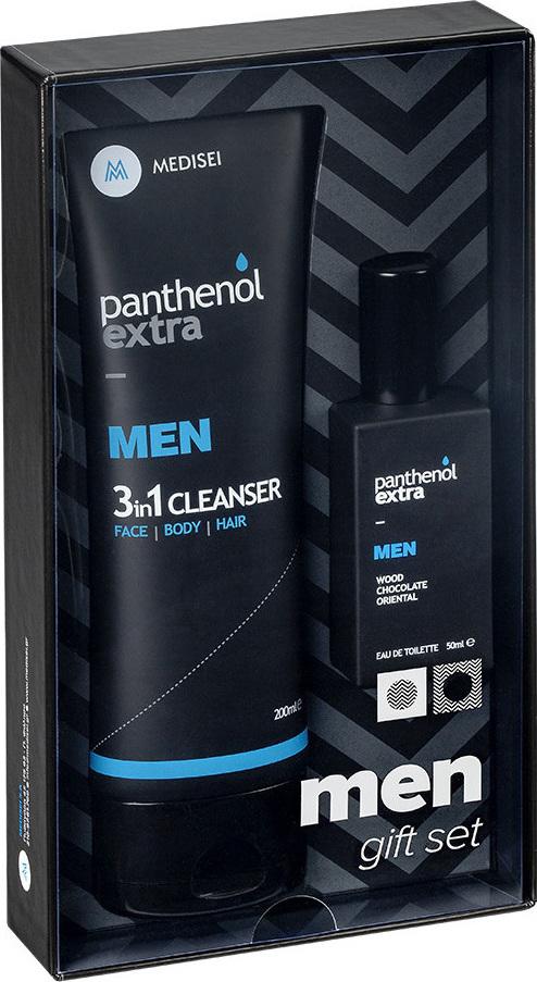 Medisei - Panthenol Extra Promo Men 3 in 1 Cleanser 200ml & Eau De Toilette Wood Chocolate Oriental 50ml
