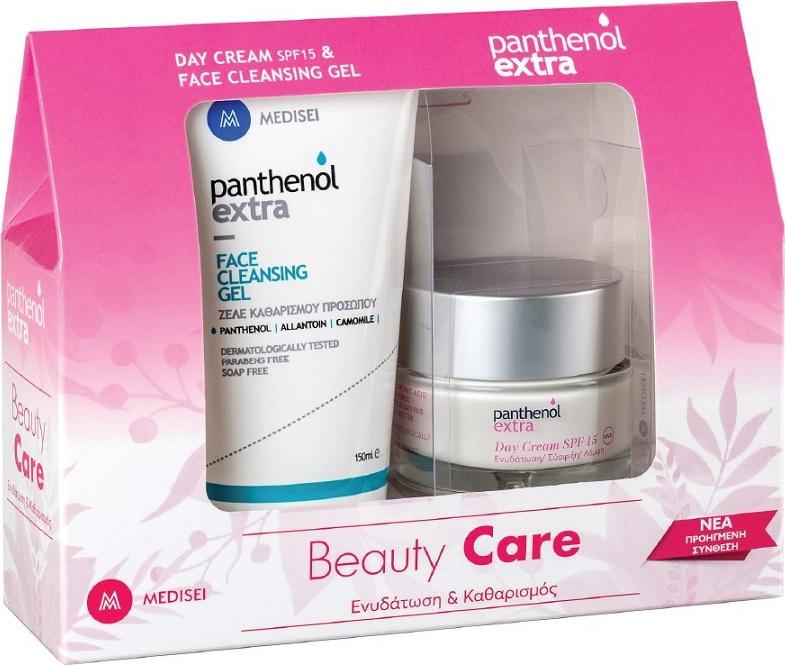 Medisei Panthenol Extra Promo Beauty Care Κρέμα Ημέρας SPF15 50ml & Face Cleansing Gel 150ml