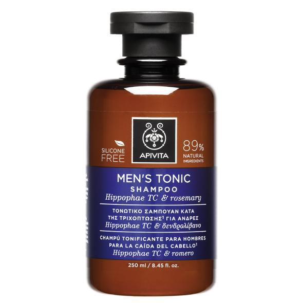 Apivita Men's Tonic Shampoo, Τονωτικό Σαμπουάν για Άνδρες με Hippophae TC & Δενδρολίβανο 250ml