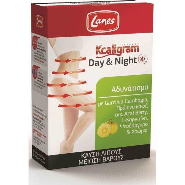 Lanes Kcaligram Day & Night, Συμπλήρωμα Διατροφής για Καύση Λίπους και Μείωση Βάρους 60 ταμπλέτες