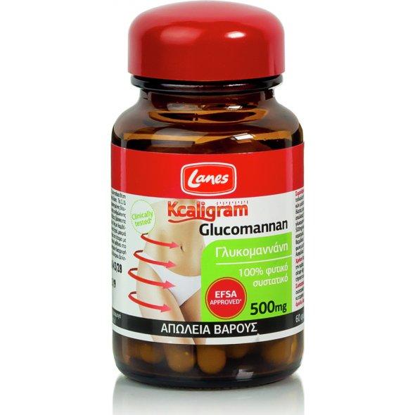 Lanes - Kcaligram Glucomannan, Συμπλήρωμα Διατροφής με Γλυκομαννάνη για τον Έλεγχο του Βάρους, 60 κάψουλες