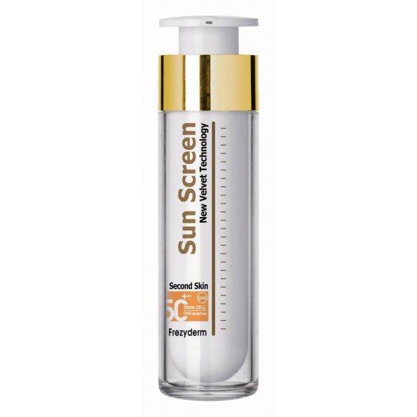 Frezyderm Sun Screen Velvet Face Cream Spf 50+, Αντηλιακή Προστασία Προσώπου για Όλους τους Τύπους Δέρματος 50ml