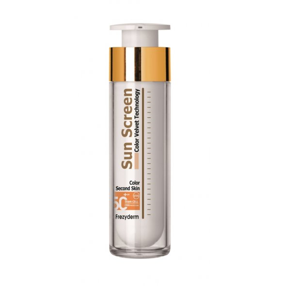 Frezyderm Sun Screen Color Velvet Face Cream Spf 50+, Αντιηλιακή Κρέμα Προσώπου Πολύ Υψηλής Προστασίας με Χρώμα για Ματ Αποτέλεσμα 50ml