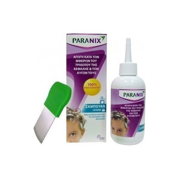 Paranix Shampoo + Χτένα Σαμπουάν για Ψείρες 200ml