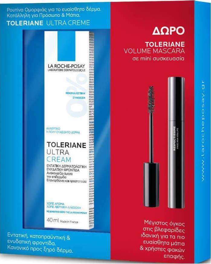La Roche Posay - Promo Toleriane Ultra Cream 40ml & ΔΩΡΟ Toleriane Mini Volume Mascara