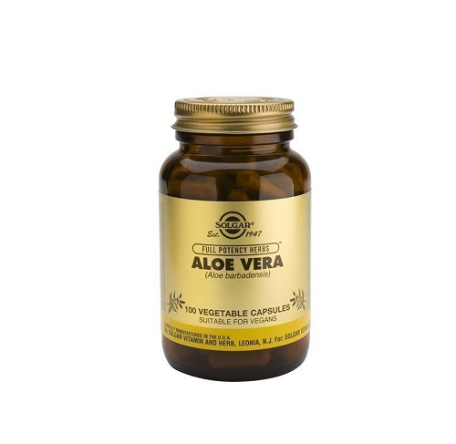 Solgar Aloe Vera, Συμπλήρωμα Διατροφής με Αλόη 100 φυτικές κάψουλες