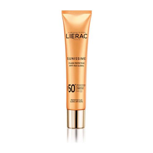 Lierac Sunissime Energizing Protective Fluid Global Anti-Aging SPF50, Λεπτόρρευστη Αντιηλιακή Κρέμα Προσώπου Ολικής Αντιγήρανσης 40ml