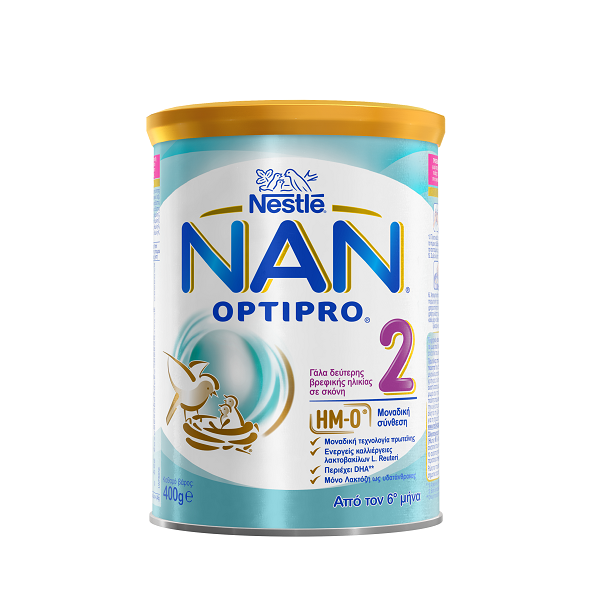Nestle Nan Optipro 2, Γάλα 2ης Βρεφικής Ηλικίας σε Σκόνη από τον 6ο Μήνα 400g