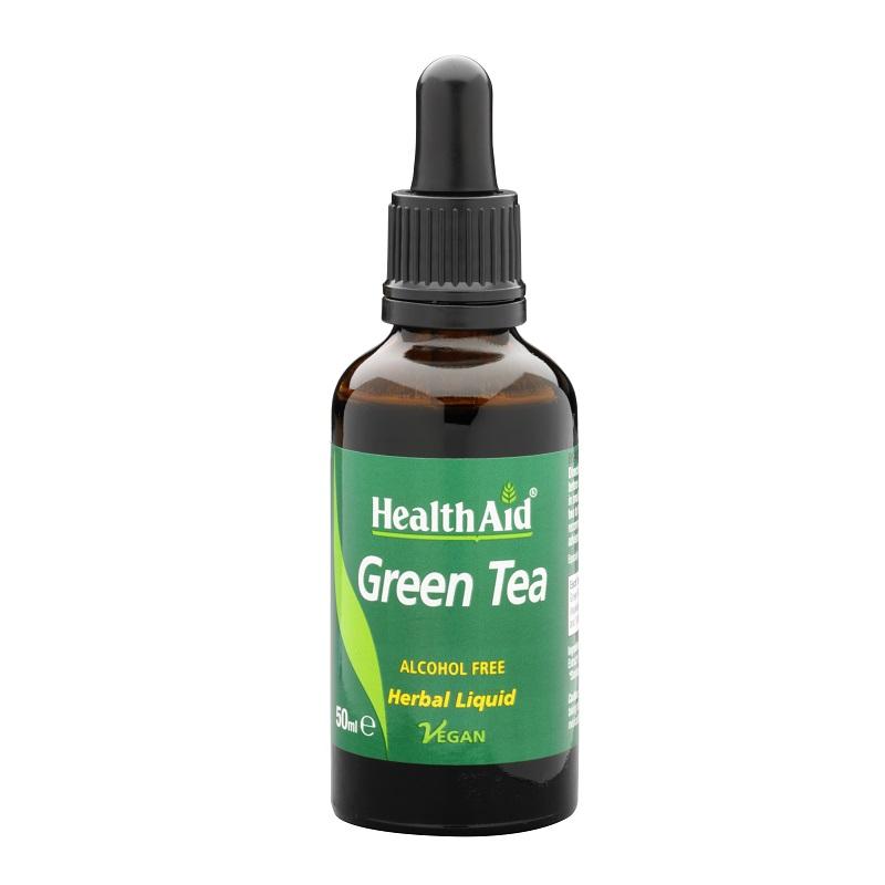 Health Aid Green Tea Liquid 50ml, Πράσινο Τσάι σε Υγρή Μορφή 50 ml