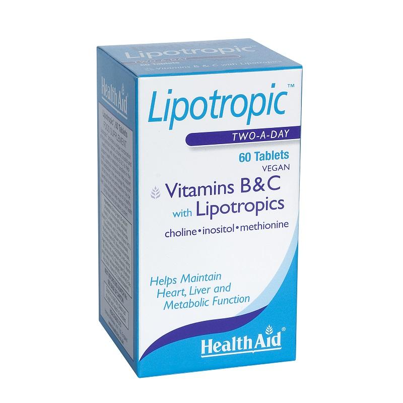 Health Aid Lipotropic with Vitamins B & C 60tabs, Βιταμίνες B και C με Αμινοξέα για Αύξηση του Μεταβολισμού 60 ταμπλέτες