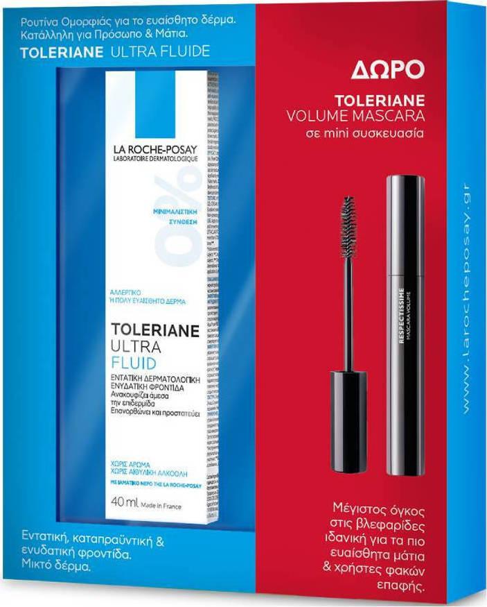 La Roche Posay - Promo Toleriane Ultra Fluid 40ml & ΔΩΡΟ Toleriane Mini Volume Mascara