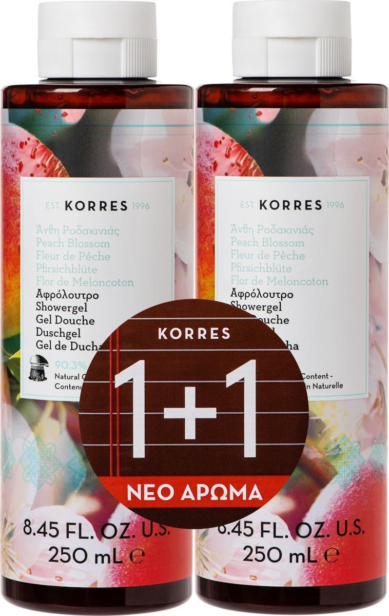 Korres - Promo Αφρολουτρο Ανθη Ροδακινιας 1+1 250ml