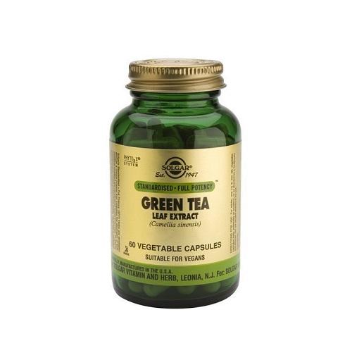Solgar Green Tea Leaf Extract, Εκχύλισμα Πράσινου Τσαγιού 60 φυτικές κάψουλες