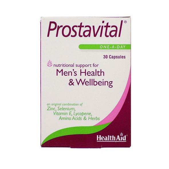 Health Aid Prostavital 30Caps, Συνδυασμός με Βιταμίνες, Μέταλλα και Αμινοξέα για τον Προστάτη 30 κάψουλες