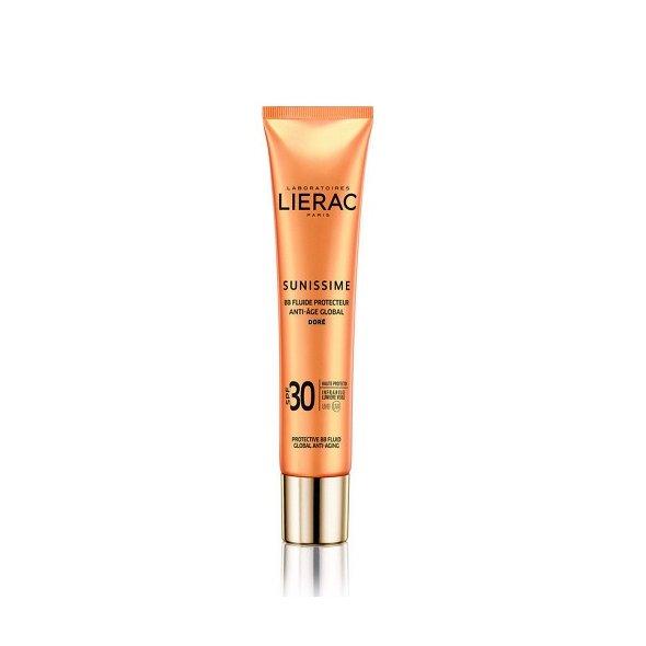Lierac Sunissime BB Fluid Global Anti-Aging Golden SPF30, Αντιηλιακή Αντιγηραντική Κρέμα Προσώπου με Χρώμα 40ml