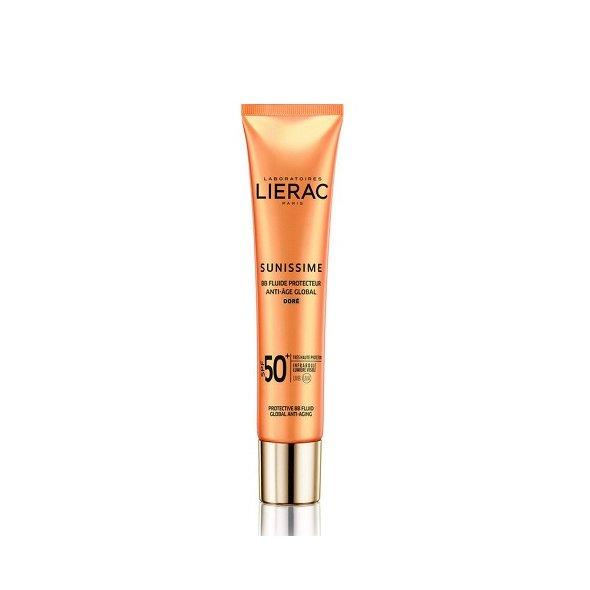 Lierac Sunissime BB Dore Fluide Protecteur Anti-Age Global SPF50+, Αντιηλιακή, Αντιγηραντική Λεπτόρρευστη Κρέμα Προσώπου με Χρώμα 40ml