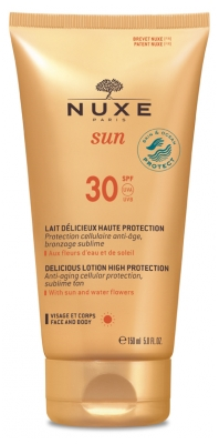 Nuxe Sun Lait Delicious Lotion High Protection Face & Body SPF30 150 ml