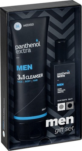 Medisei - Panthenol Extra Promo Men 3 in 1 Cleanser 200ml & Eau De Toilette Wood Chocolate Oriental 50ml