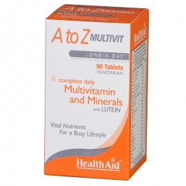 Health Aid A to Z Multivit with Lutein, Πολυβιταμίνες 90tabs