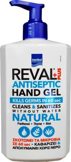 InterΜed - Reval Plus Antiseptic Hand Gel Natural 500ml