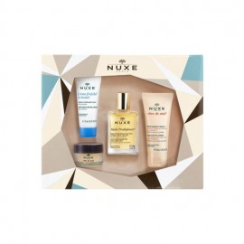 Nuxe Promo Set Must Have Products: Creme Fraiche de Beaute Moisturising Cream, 15ml & Reve de Miel Honey Lip Balm, 15ml & Huile Prodigieuse Multi-Purp …