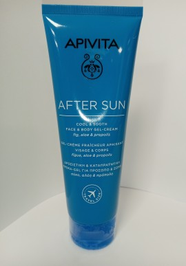 Apivita Travel Size After Sun Cool & Sooth Face & Body Gel-Cream 100ml