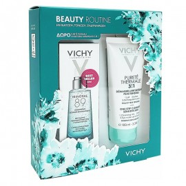 Vichy Beauty Routine Mineral 89 Booster 50ml & Vichy Purete Thermale 3 in1 100ml