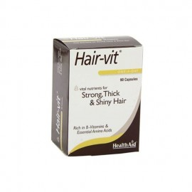 Health Aid Hair-vit, Strong, Thick & Shiny Hair, Συνδυασμός Βιταμινών για Δύναμη, Όγκο & Λαμπερά Μαλλιά 90caps