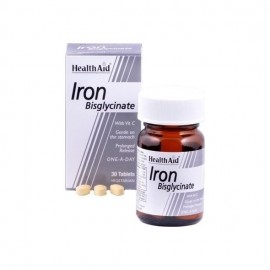 Health Aid Iron Bisglycinate 30mg, Σίδηρος Δισγλυκινικός 30Tabs