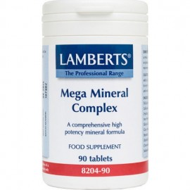 Lamberts Mega Mineral Complex, Σκεύασμα με Μέταλλα και Ιχνοστοιχεία 90 ταμπλέτες