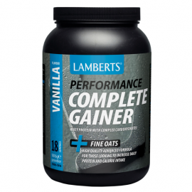 Lamberts Complete Gainer Vanilla, Συμπλήρ.Διατρ. με Πρωτεΐνη και Υδατάνθρακες για Αθλητές, Γεύση Βανίλιας 1816gr 7006-1816