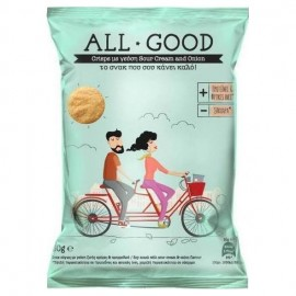 Power Health All Good Crisps - Onion & Sour cream, Υγιεινό Σνακ από Σόγια 30gr