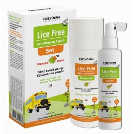 Frezyderm Lice Free Set Shampoo 125ml + Lotion 125ml + Χτένα