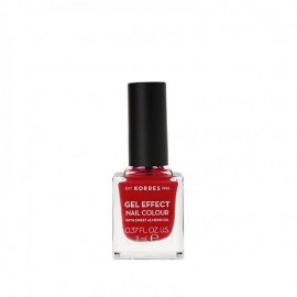 Korres 51 Rosy Red Gel Effect Nail Colour 11ml