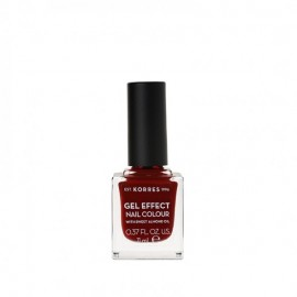 Korres 59 Wine Red Gel Effect Nail Colour 11ml
