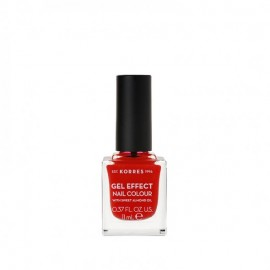 Korres 48 Coral Red Gel Effect Nail Colour 11ml