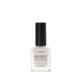 Korres 02 Porcelain White Gel Effect Nail Colour 11ml