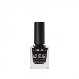 Korres 76 Smokey Plum Gel Effect Nail Colour 11ml