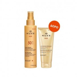 Nuxe Sun PROMO Spray Fondant SPF50 Haute Protection 150ml +ΔΩΡΟ Lait Fraicheur Apres Soleil Visage et Corps 100ml