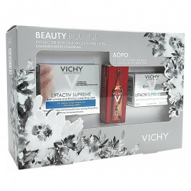 Vichy Beaute Routine Liftactiv Supreme Cream Normal To Mixed Skin 50ml Liftactiv Supreme Night 15ml & Liftactive Clyco-C 2ml