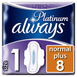 Always Platinum Ultra Normal Plus (Μέγεθος 1) Mε Φτερά 8 τεμ