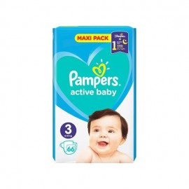 Pampers Βρεφικές Πάνες Active Baby Dry Maxi Pack No3 (6-10kg) 66τμχ