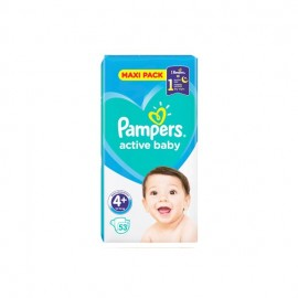 Pampers Βρεφικές Πάνες Active Baby Dry Maxi Pack No4+ (10-15kg) 53τμχ