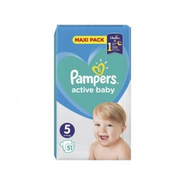 Pampers Βρεφικές Πάνες Active Baby Maxi Pack Νο5 (11-16kg) 51τμχ