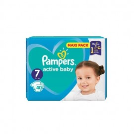 Pampers Βρεφικές Πάνες Active Baby Maxi Pack Νο7 (15+ kg) 40τεμ