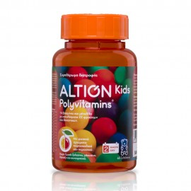 Altion - Kids Polyvitamins, 60 Ζελεδάκια (Πορτοκάλι-Κεράσι)
