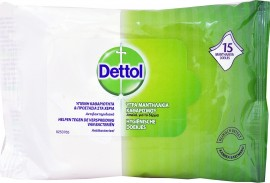 DETTOL WIPES *15 ΥΓΡΑ ΜΑΝΤΗΛΑΚΙΑ